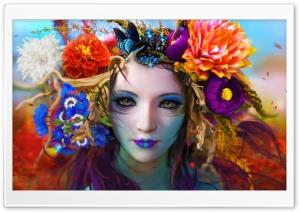 Beautiful Artwork, Girl, Flowers