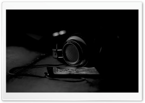 Headphones, Black and White