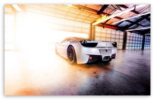 Download Ferrari In Garage UltraHD Wallpaper