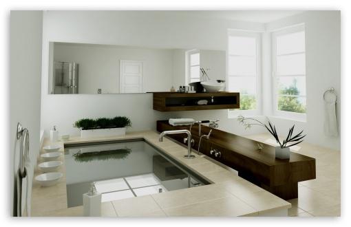 Download Amazing Modern Bath UltraHD Wallpaper