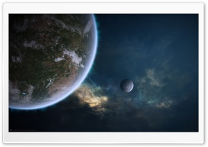 Outer Space Planets Artwork