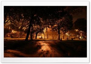 Park At Night City