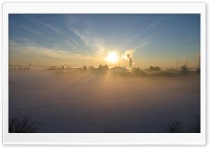 Early Morning Fog In Winter