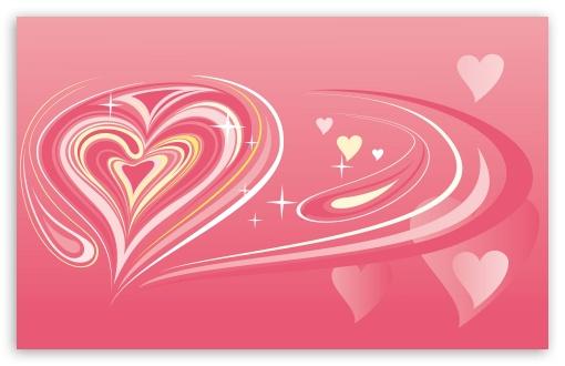 Download Pink Heart UltraHD Wallpaper