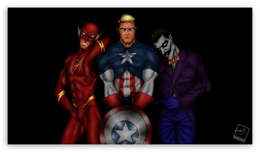 Download Tatangs Art - Flash, Captain America, Joker... UltraHD Wallpaper