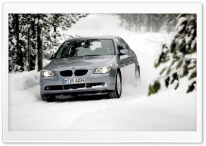 BMW In The Snow