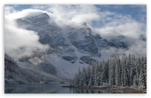 Download Lake Lorraine Canada UltraHD Wallpaper