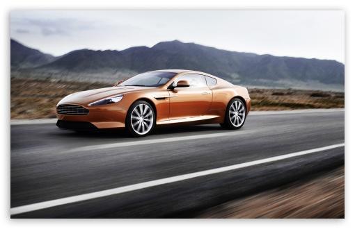 Download Aston Martin Golden Brown UltraHD Wallpaper