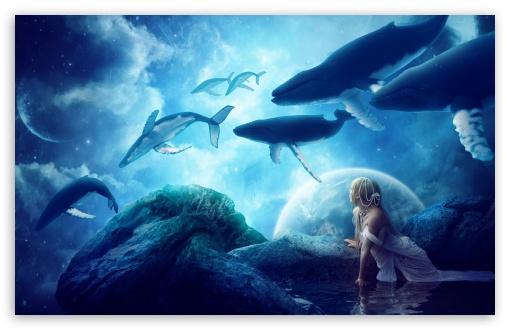 Download Whales Dream UltraHD Wallpaper