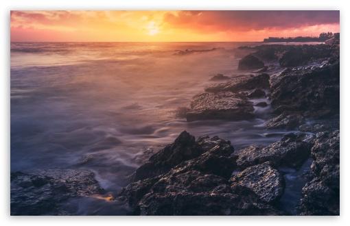 Download Beach Glow UltraHD Wallpaper