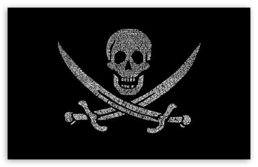 Download Pirates Flag UltraHD Wallpaper