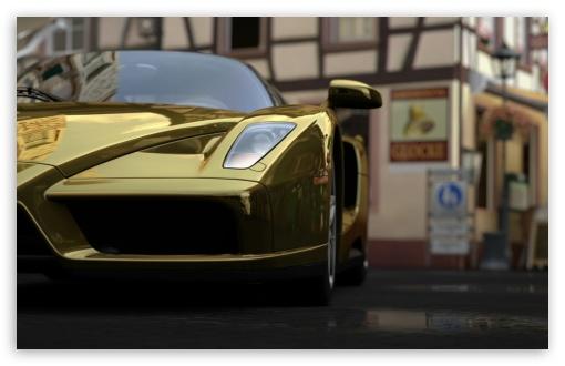 Download Ferrari Enzo - GOLD UltraHD Wallpaper