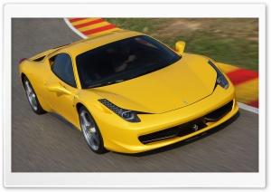 Yellow Ferrari 458 Italia...