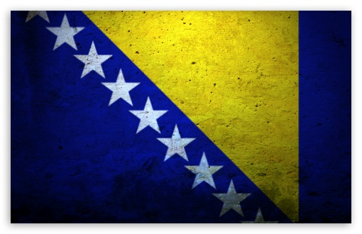 Download Grunge Flag Of Bosnia And Herzegovina UltraHD Wallpaper