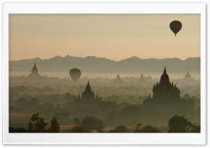 Hot Air Balloons Over North...