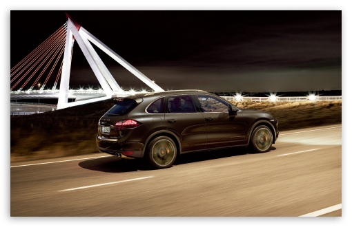 Download Porsche Cayenne Turbo On The Road UltraHD Wallpaper