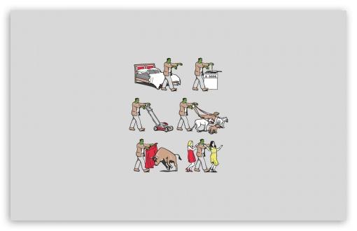 Download Funny Frankenstein Cartoon UltraHD Wallpaper