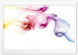 Colored Smoke White Background