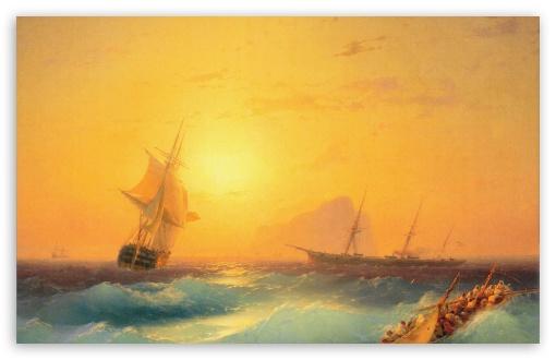 Download Sea Painting UltraHD Wallpaper