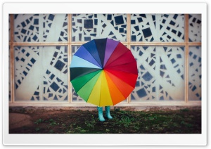 Colourful Rainbow Umbrella,...