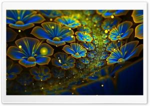 Blue Flowers Art