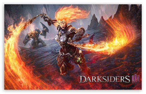 Download Darksiders III Flame Fury 2018 Video Game UltraHD Wallpaper