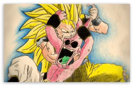 Download Goku vs Boo UltraHD Wallpaper