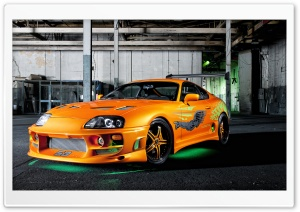 Orange Toyota Supra Neon