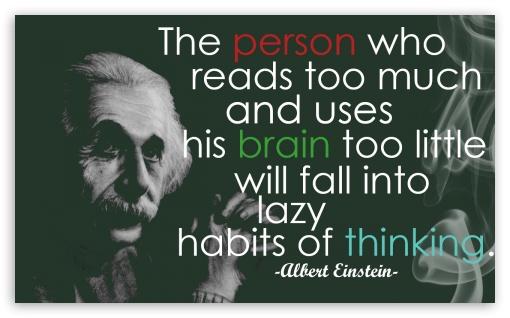Download Einstein Quote UltraHD Wallpaper
