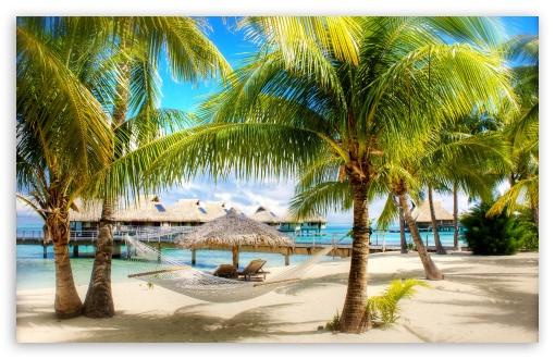 Download Tropical Beach Resort UltraHD Wallpaper