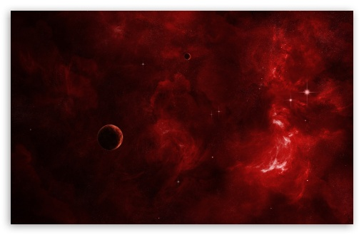 Download Red Nebula UltraHD Wallpaper