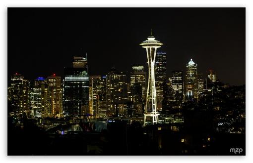 Download Seattle, Night UltraHD Wallpaper