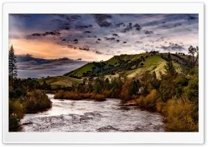 Sunset Countryside Landscape