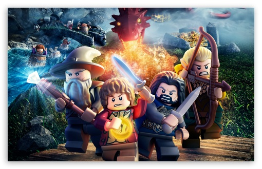 Download Lego The Hobbit UltraHD Wallpaper