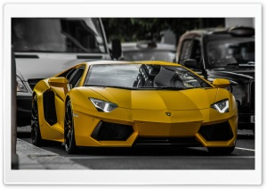 Yellow Lamborghini HDR