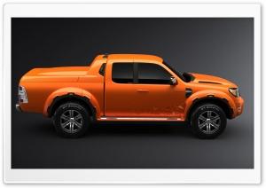 Orange Ford Ranger 1
