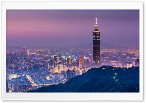 Taipei 101 At Night Panoramic...
