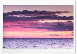 Mediterranean Sea, Pink Sunset
