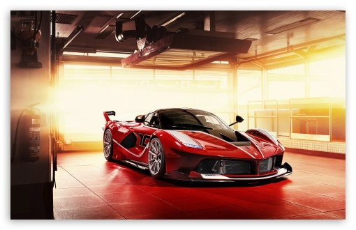 Download Red Ferrari FXX K Supercar UltraHD Wallpaper