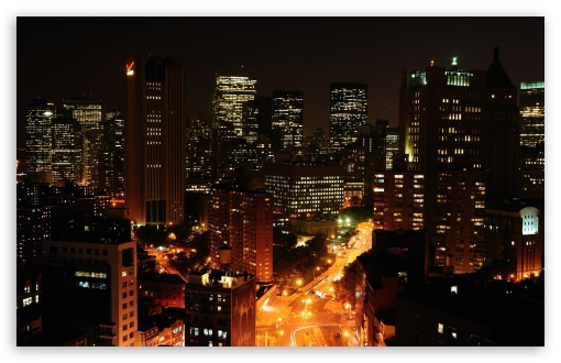 Download Night Cityscapes UltraHD Wallpaper