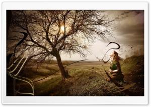 Woman Near The Tree