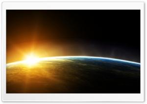 Earth Sunrise Space
