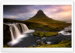 Kirkjufell Mountain and...
