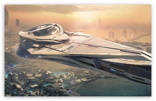 Download Star Citizen Spaceship UltraHD Wallpaper