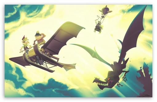 Download Flying Machine UltraHD Wallpaper