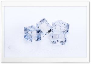 Transparent Ice Cubes Background