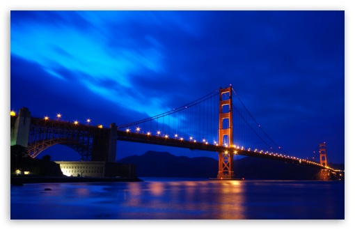 Download Golden Gate Bridge At Night UltraHD Wallpaper