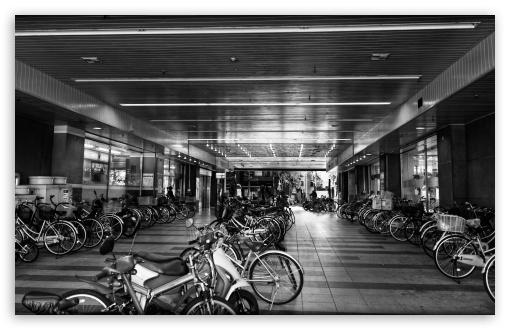 Download Bicycle Parking UltraHD Wallpaper