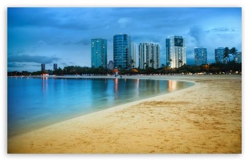 Download Waikiki After Sunset UltraHD Wallpaper