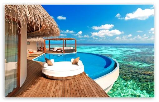 Download Luxury Water Bungalows Maldives UltraHD Wallpaper